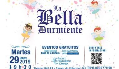 """BALLET NACIONAL DE ECUADOR PRESENTA """"LA BELLA DURMIENTE"""""""